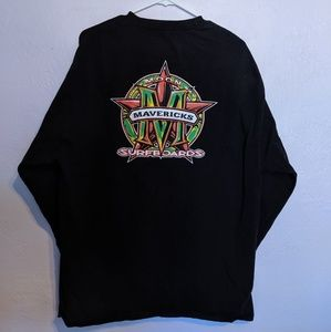 Black Mavericks Surfboards Long Sleeve Shirt